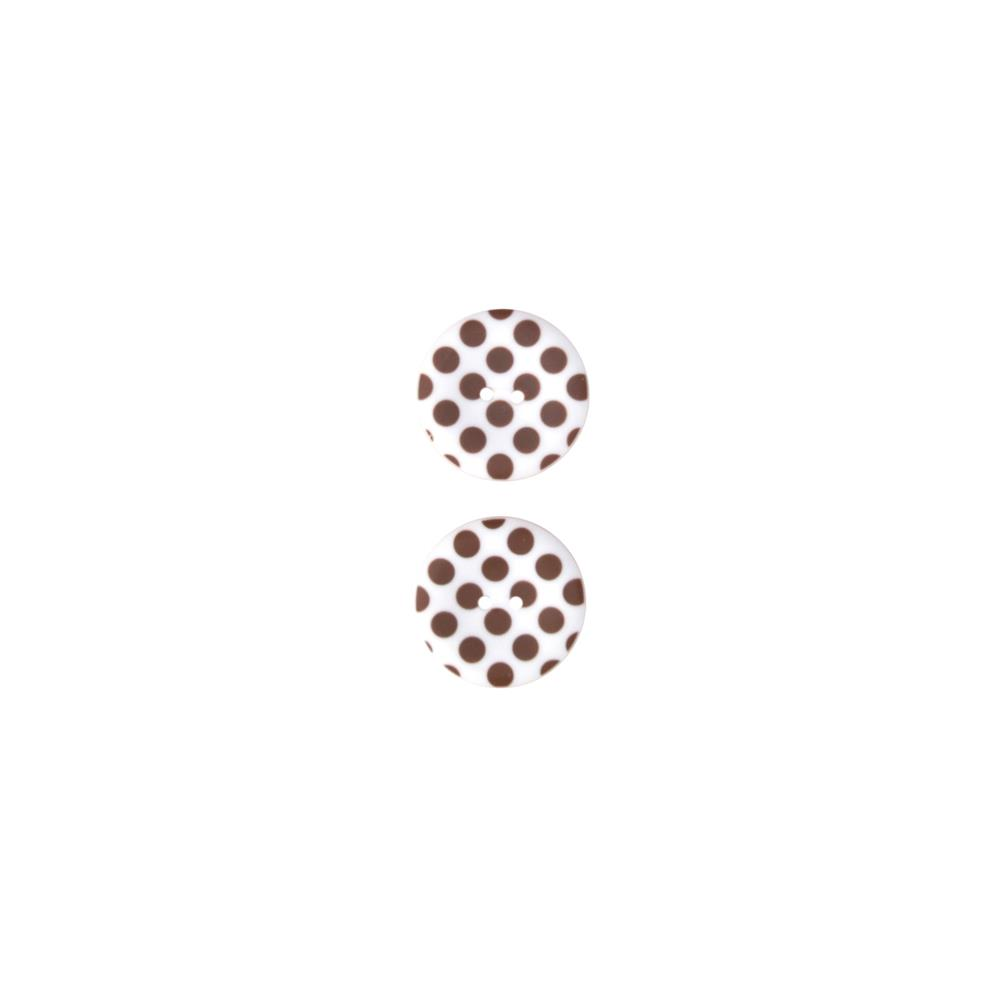 Riley Blake Sew Together 1 1/2 Matte Button Dots Brown