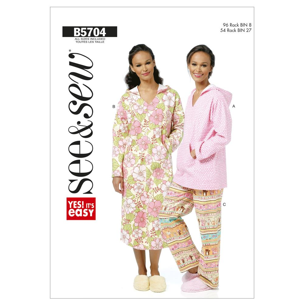 Butterick Misses' Top, Nightshirt and Pants Pattern B5704