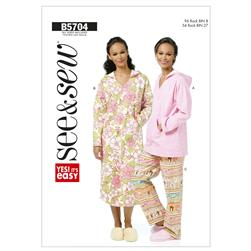 Butterick Misses' Top, Nightshirt and Pants Pattern B5704 Size 0A0