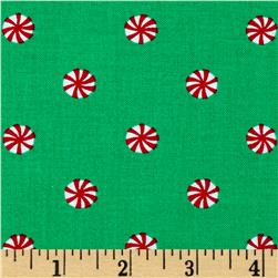 Michael Miller Holiday Party Mini Mint Evergreen