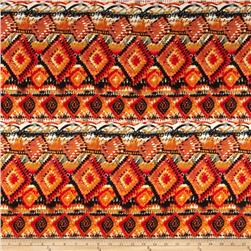 Aztec Rayon Challis Rust/Orange
