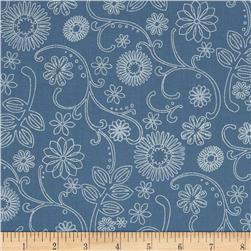 "110"" Wide Quilt Back Signature Cornflower"