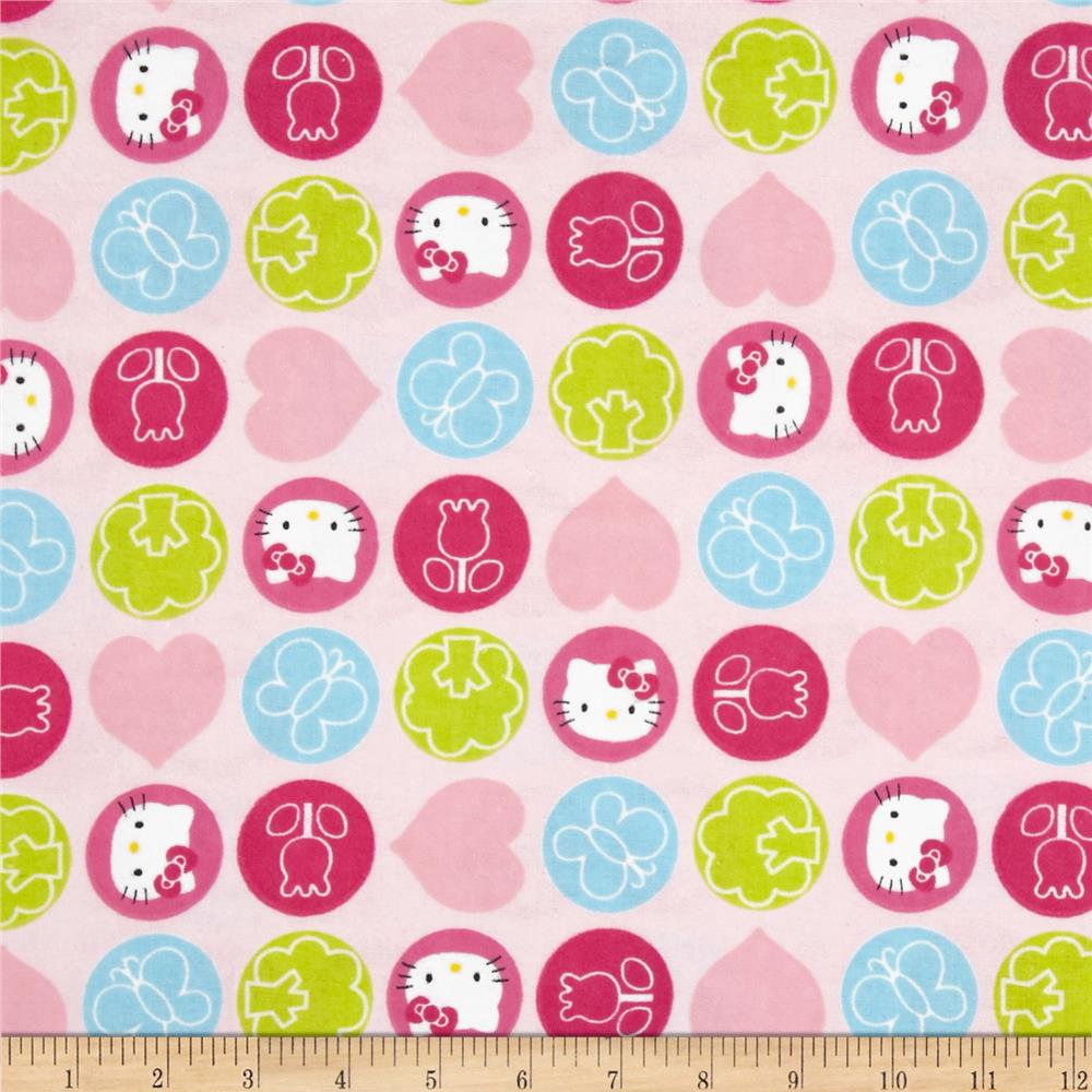 Sanrio Hello Kitty Flannel Dot Toss Pink