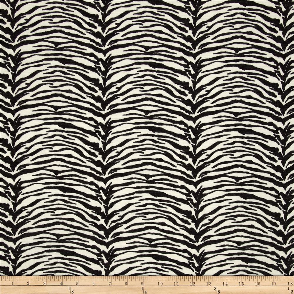 Hatchi Sweater Knit Zebra Print Black/Cream