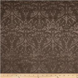 Ramtex Faux Leather Damask Penny Fabric