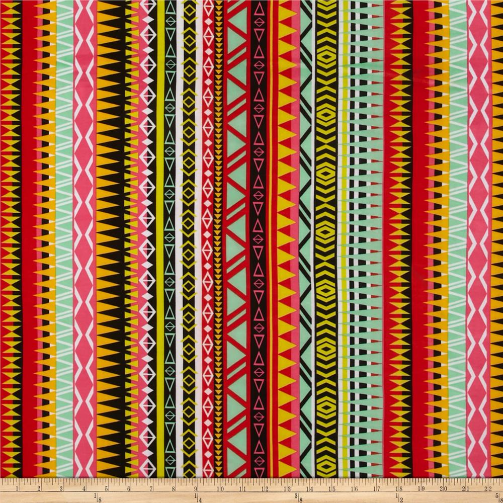 ITY Jersey Knit Aztec Multi-Yellow/Red/Pink/Jade