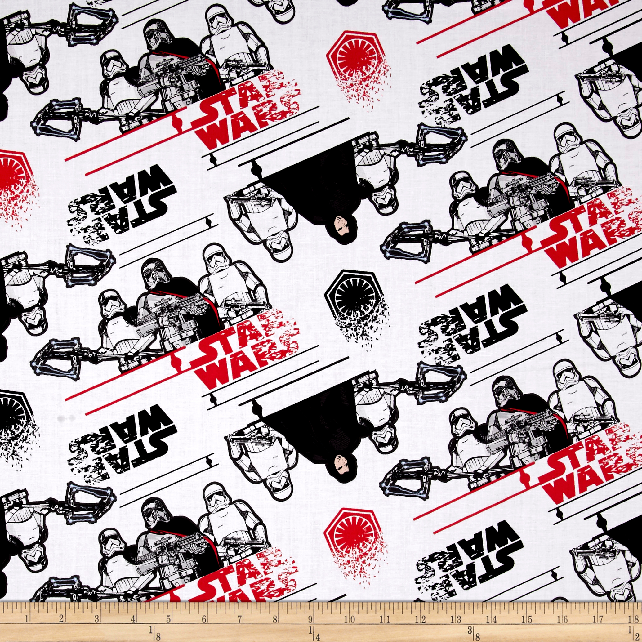 Star Wars The Last Jedi First Order White Fabric 0555400