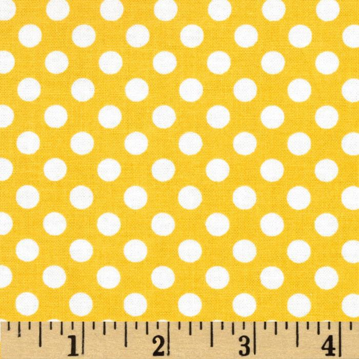 Riley Blake Dots Small Yellow