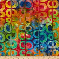 Artisan Batiks Pop Op Circle Stripe Fiesta