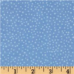 Comfy Flannel Tossed Dots Blue