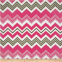 Premier Prints Indoor/Outdoor Zazzle Preppy Pink Fabric