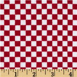 Riley Blake On Our Way Flannel Checkerboard Red