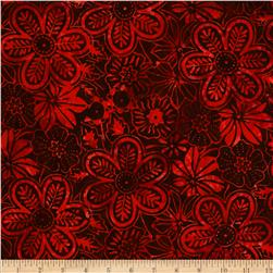 Moda Island Sun Batik Black/Red/Rose