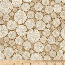 Riley Blake Camp a Lot Firewood Cream Fabric