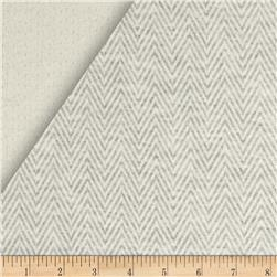 Double Face Stripe Knit Herringbone Grey