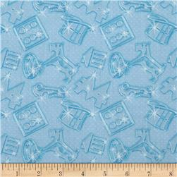 Mr. Monopoly Token Twinkle Blue Fabric