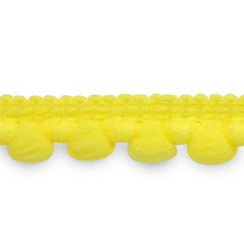 "3/8"" Baby Pom Fringe Trim Yellow"
