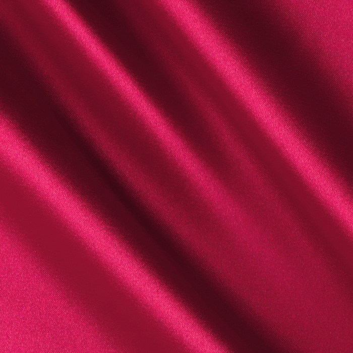 Charmeuse Satin Hot Pink Fabric
