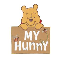 Disney Winnie The Pooh Iron On Applique My Hunny