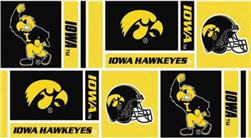 Collegiate Cotton Broadcloth University of Iowa Squares