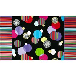 Manhattan Modern Carousel Double Border  Black/Bright Multi