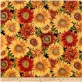 Shades of the Season Metallic Leaf Sunflower Autumn Black