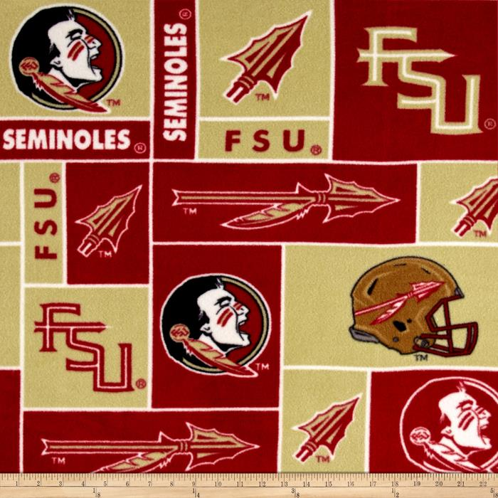 Collegiate Fleece Florida State University Fabric By The Yard