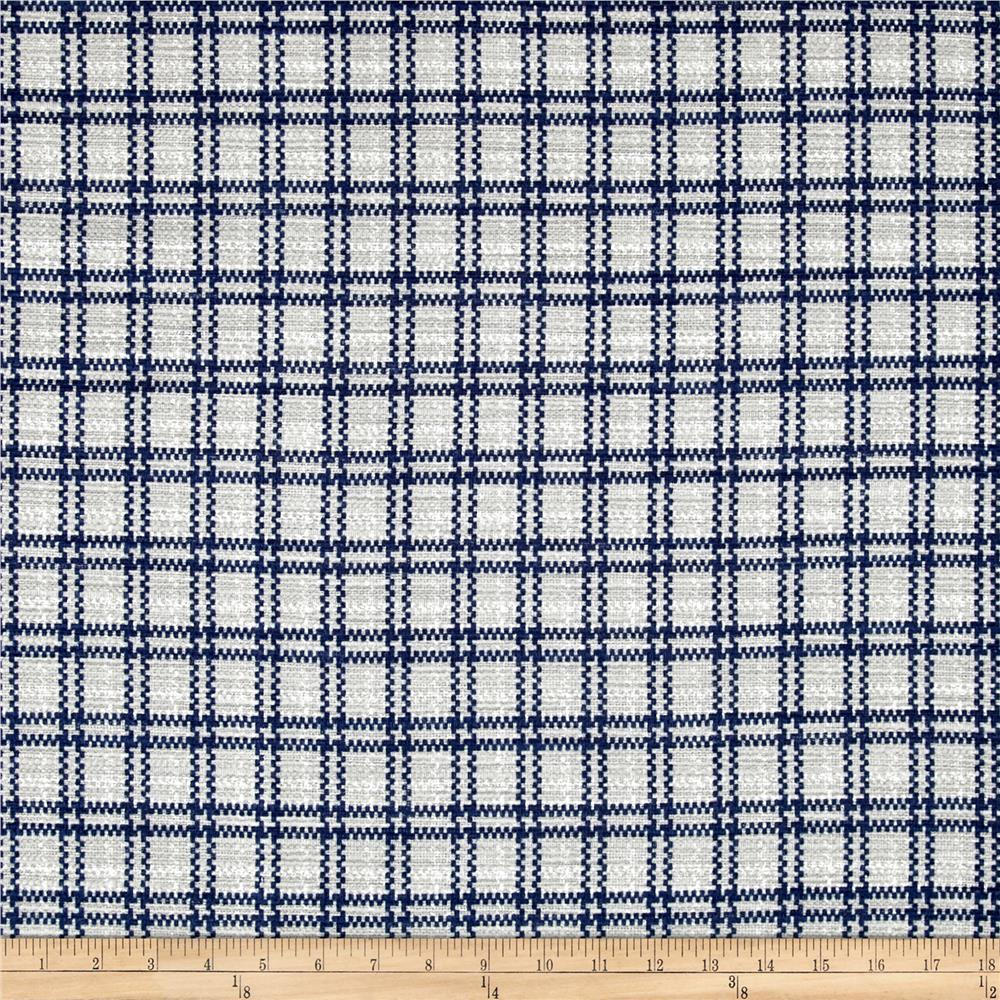 Kaufman Cotton Boucle Prints Plaid Silver