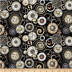 Timeless Clock Faces Black
