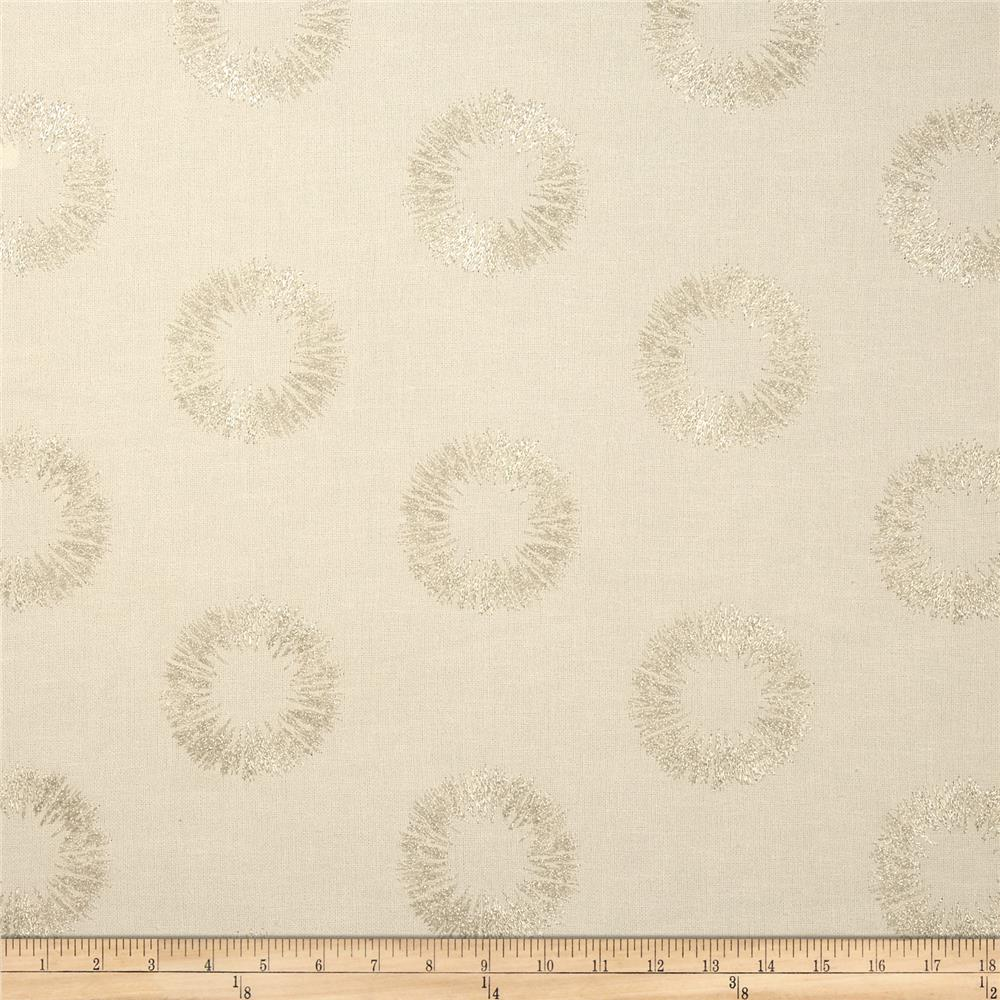 Nate Berkus Solange Embroidered Metallic Circles Quartz