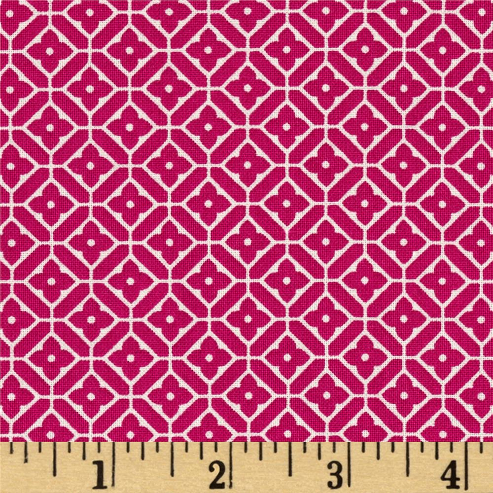 Quartette Collection Medallion Trellis Pink