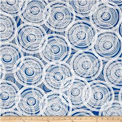 Kaufman Marks by Valori Wells Circle Swirl Royal Blue
