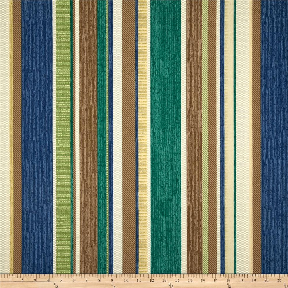 Richloom Solarium Outdoor Coltrane Stripe Chambray