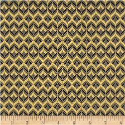 Alchemy Metallic Diamond Geo Black/Gold Fabric