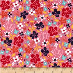 Robert Kaufman Cherry Blossom Garden Small Flowers Pink