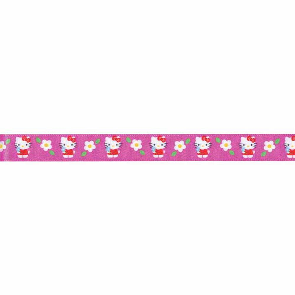 "7/8"" Hello Kitty Ribbon Hot Pink"