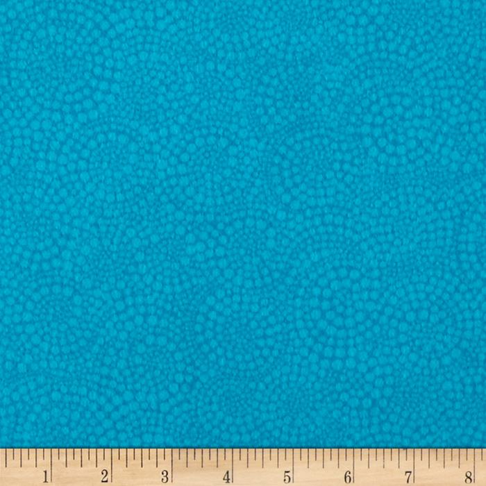 Timeless Treasures Sunkissed Swimmers Flannel Swirl Dot Turquoise