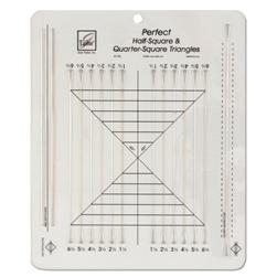 June Tailor Perfect Half-Square & Quarter Square Triangle Ruler 10-1/2'' x 12-1/2'' Ruler