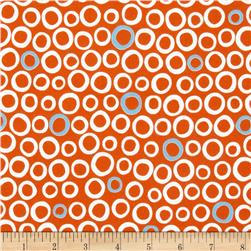 Into the Woods Flannel Circle Orange/White