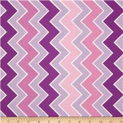 Riley Blake Medium Shaded Chevron Grape