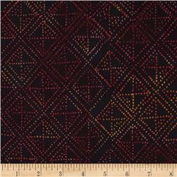 Timeless Treasures Tonga Batik Nairobi Sashiko Red