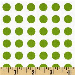 Moda Gooseberry Polka Dots Cloud/Leaf
