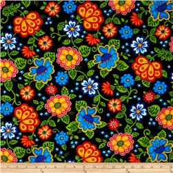 Emily's Artful Days Euro Floral Black