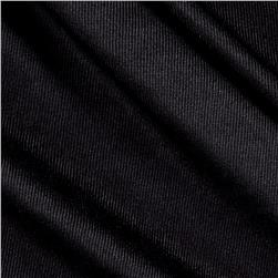 Ribbed Tricot Solid Black