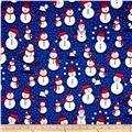Kaufman Polar Pals Holiday Snowmen Royal