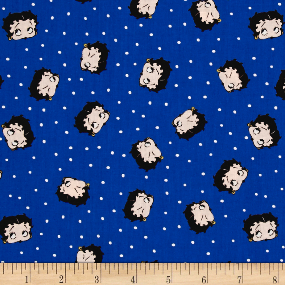 Red White & Boop Betty Dot Royal Fabric by Eugene in USA