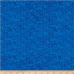 Flannel Scroll Blue