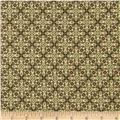 Stretch Polyester Jersey Knit Tile Brown/Sage