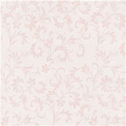 Timeless Treasures Lacey Scroll Blush