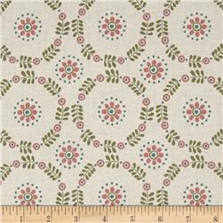 Lewis & Irene Home Sweet Home Daisy Chains Cornish Cream